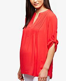 A Pea in the Pod Maternity Split Blouse