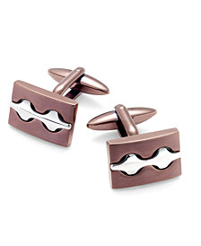 Sutton by Rhona Sutton Men's Two-Tone Decorative Cuff Links