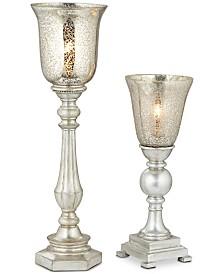 Pacific Coast Set of 2 Antique Mercury Shade Uplight Table Lamps