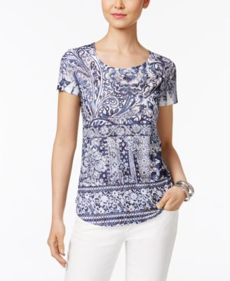 Image of Style & Co Sublimated-Print T-Shirt