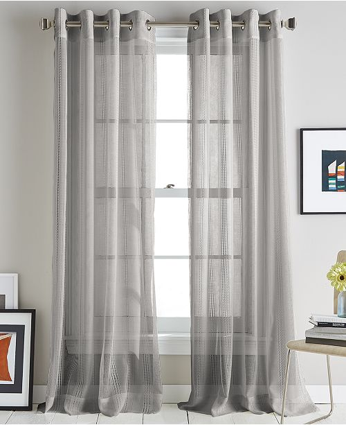 "DKNY Soho Stripe 50"" x 63"" Curtain Panel"