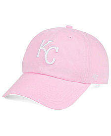 '47 Brand Kansas City Royals Pink/White CLEAN UP Cap