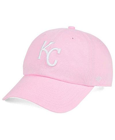 '47 Brand Kansas City Royals Pink/White CLEAN UP Cap