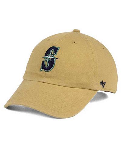 '47 Brand Seattle Mariners Khaki CLEAN UP Cap