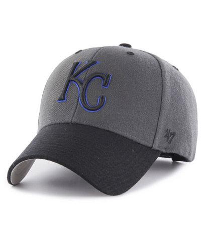 '47 Brand Kansas City Royals 2Tone Charcoal/Black Pop MVP Cap
