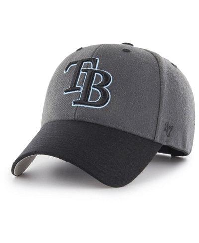 '47 Brand Tampa Bay Rays 2Tone Charcoal/Black Pop MVP Cap