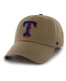 '47 Brand Texas Rangers Khaki CLEAN UP Cap