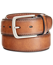 Levi's® Men's Burnished-Edge Logo Belt