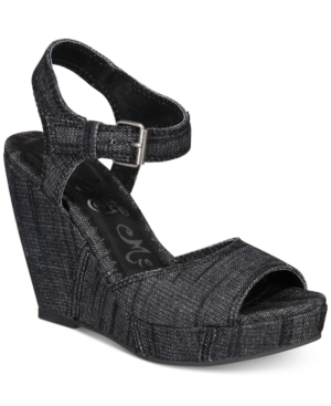 Naughty Monkey Block Party Platform Wedge Sandals Women