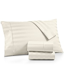 Bergen Stripe 4-Pc. King Sheet Set, 1000 Thread Count 100% Certified Egyptian Cotton