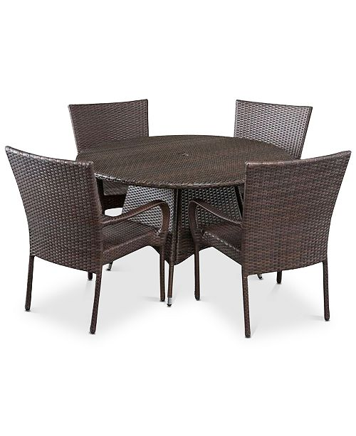 Noble House Chiese 5-Pc. Dining Set, Quick Ship