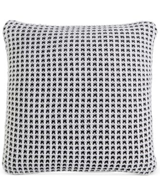 "Knit 20"" Square Decorative Pillow, Created for Macy's"