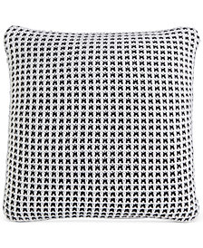 "Charter Club Damask Designs Knit 20"" Square Decorative Pillow, Created for Macy's"