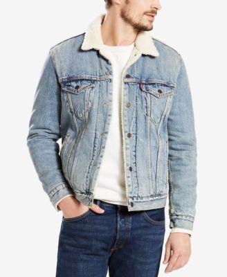 1291f7595f5c Levi s Sherpa Denim Trucker Jacket   Reviews - Coats   Jackets - Men -  Macy s