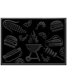 "Bungalow Flooring Water Guard Grill Time 2'6"" x 3' 9"" Grill Mat"