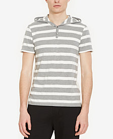 Kenneth Cole Reaction Men's Stripe Hooded Henley