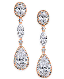 Danori Oval Crystal Drop Earrings, Created for Macy's