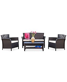 Aldin Outdoor 4-Pc. Conversation Set, Quick Ship