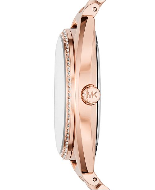 969243b9c69e ... Michael Kors Women s Libby Rose Gold-Tone Stainless Steel Bracelet Watch  38mm MK3677 ...