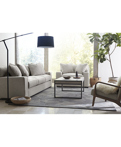 Macys Furniture Sofa Marsilla 88 Leather Sofa Created For
