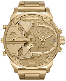 Diesel Men's Chronograph Mr. Daddy 2.0 Gold-Tone Stainless Steel Bracelet Watch 57x66mm DZ7399
