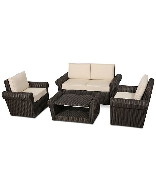 Furniture Holtan Outdoor 4-Pc. Chat Set, Quick Ship