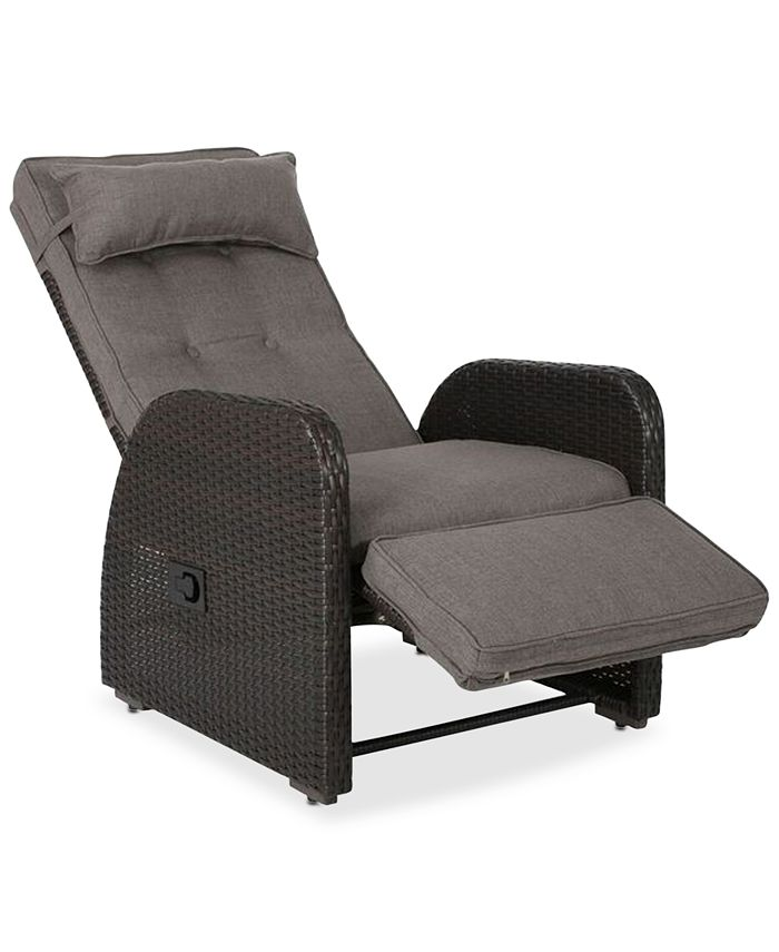 Noble House - Lifton Outdoor Recliner with Cushion, Quick Ship