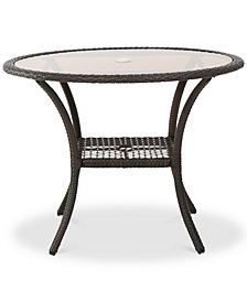 Pennon Glass Table, Quick Ship