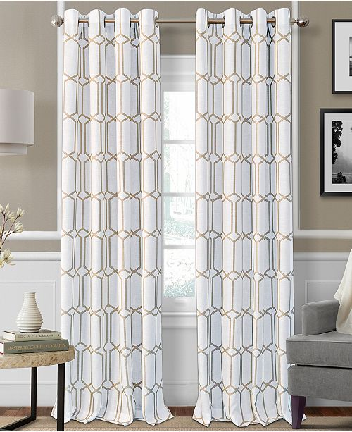 "Elrene Kaiden Blackout Linen 52"" x 84"" Window Panel"