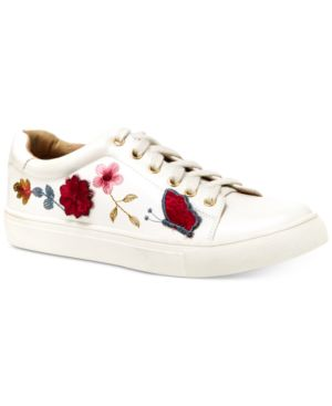 Nanette by Nanette Lepore Wildflower Embroidered Lace-Up Sneakers Women