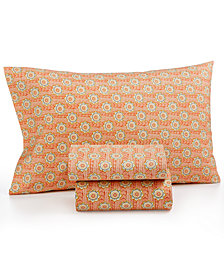 CLOSEOUT! Printed Microfiber Twin 3-Pc Sheet Set, Created for Macy's
