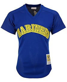 Men's Ken Griffey Jr. Seattle Mariners Authentic Mesh Batting Practice V-Neck Jersey