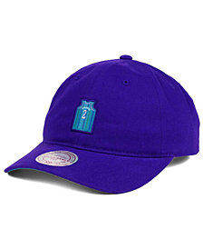 Mitchell & Ness Larry Johnson Charlotte Hornets Deez Jersey Dad Cap