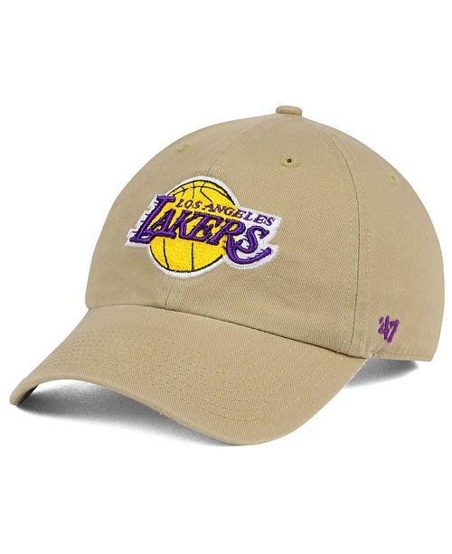 47 Brand Los Angeles Lakers Khaki CLEAN UP Cap & Reviews