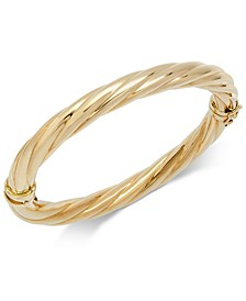 Polished Twisted Bangle Bracelet in 14k Gold