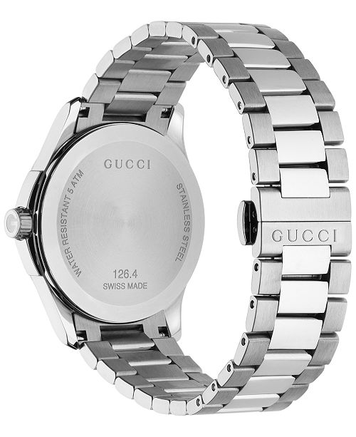 d338806cb18 ... Gucci Unisex Swiss G-Timeless Stainless Steel Bracelet Watch 38mm  YA126457 ...