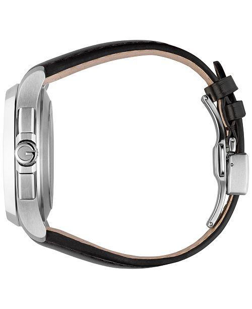 3d69b0d52b9 ... Gucci Men s Swiss Automatic Chronograph G-Timeless Black Leather Strap  Watch 44mm YA126265 ...