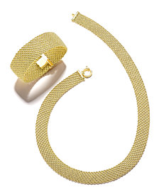 """El Dorado"" Mesh Link Jewelry Collection in 14k Gold"
