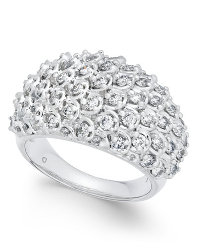 Diamond Cluster Bubble Ring (1-1/2 ct. t.w.) in 14k White Gold