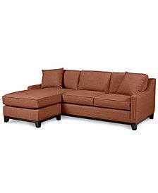 "Keegan 90"" 2 Piece Fabric Sectional Sofa - Custom Colors"