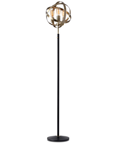 Adesso Donovan Antique Brass Floor Lamp