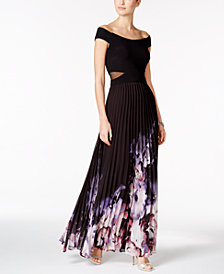 XSCAPE Off-The-Shoulder A-Line Gown
