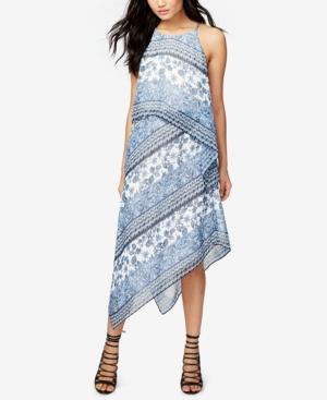 Rachel Rachel Roy  PRINTED ASYMMETRICAL CHIFFON DRESS