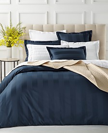 Charter Club Damask Stripe Duvet Cover Collection, 550 Thread Count 100% Supima Cotton, Created for Macy's