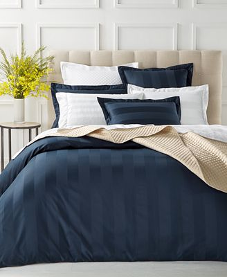 Stripe Duvet Cover Collection 550 Thread Count 100 Supima Cotton Created For Macy S