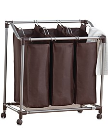 Hampers, Deluxe EVERFRESH® Laundry Triple Sorter