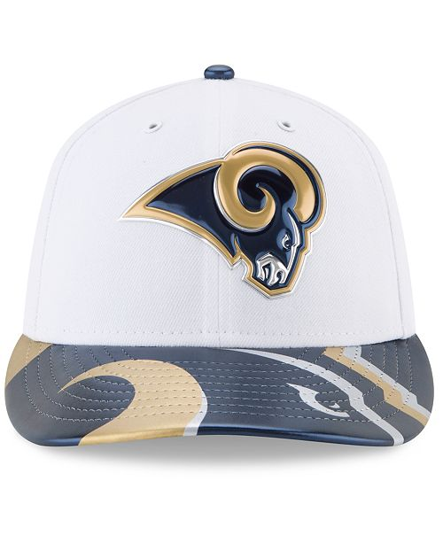 brand new 20992 765b0 ... promo code for new era los angeles rams low profile 2017 draft 59fifty  cap sports fan