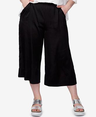 rachel rachel roy trendy plus size gaucho pants - pants - plus
