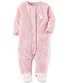 Carter's  Baby Girls 1-Pc. Dot-Print Terry Footed Coveralls