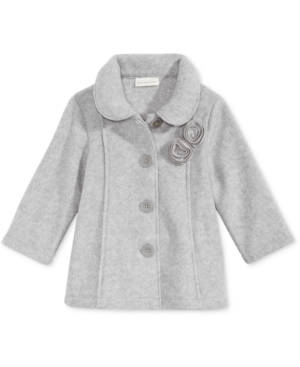 First Impressions Collared Microfleece Coat Baby Girls (024 months) Created for Macys
